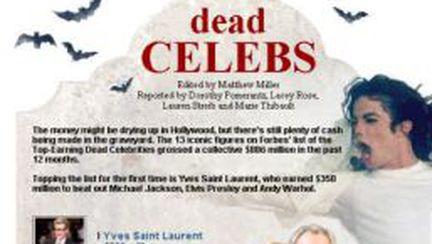 Topul vedetelor care fac bani şi după moarte