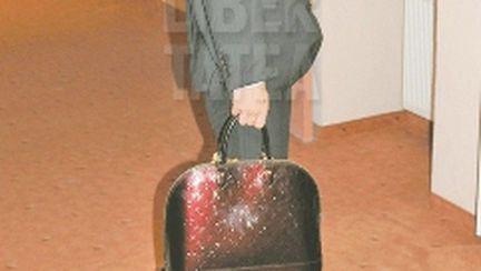 Geanta Louis Vuitton a Elenei Udrea, păzită de SPP