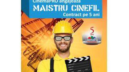 CinemaPRO angajează maistru cinefil. Contract pe 5 ani
