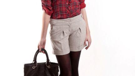 Cum să porţi pantalonii scurţi din tweed iarna asta