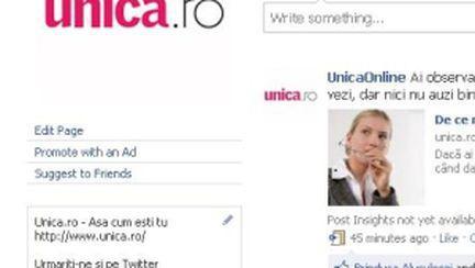 Unica.ro, locul 7 în topul revistelor de pe Facebook