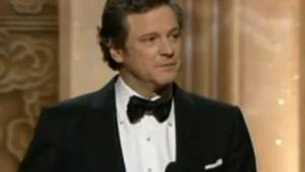 Video: Colin Firth primeşte Oscarul pentru cel mai bun actor