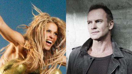 Shakira şi Sting, în concert la Bucureşti