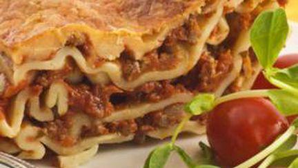 Lasagna cu carne de miel