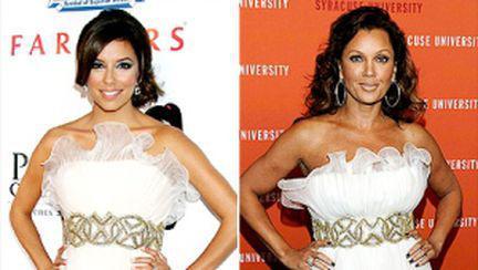 Eva Longoria şi Vanessa Williams, rochii identice. Votează!
