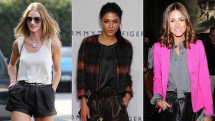 Pantalonii scurţi din piele, recomandarea fashionistelor
