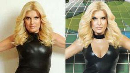 Foto: 6 vedete în Photoshop şi în realitate