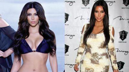 Kim Kardashian, modificată în Photoshop