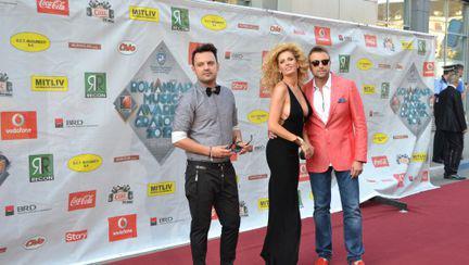 Romanian Music Awards: Cătălin Botezatu a sosit la braţul Andreei Bănică