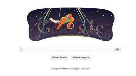 Londra 2012, gimnastică artistică masculină inele – logo-ul Google de azi