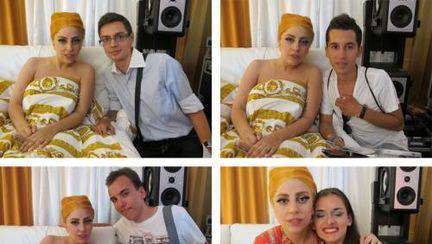 Patru tineri au fost invitaţi în patul lui Lady Gaga