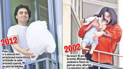 La maternitate, Pepe s-a jucat de-a Michael Jackson!