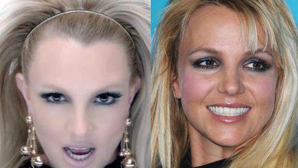 Poze: Britney Spears în videoclip şi în realitate