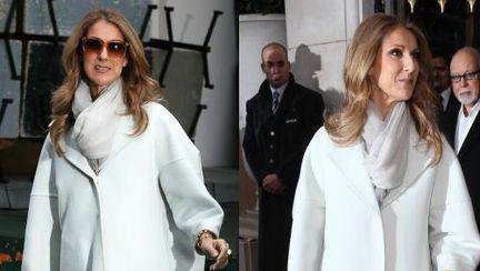 Celine Dion, într-un palton uriaş. Ai purta aşa ceva?