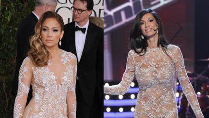 Nicoleta Luciu sau Jennifer Lopez? Care arată mai bine în rochia din dantelă?