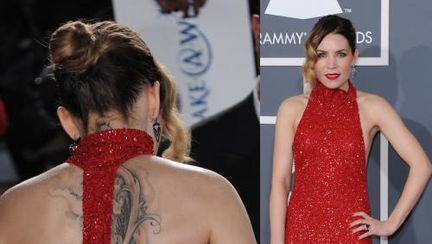 Poze: 3 rochii roşii superbe la premiile Grammy 2013