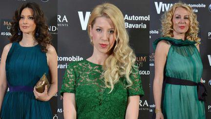 Tendinţe Golden Carpet Viva!: Vedetele au purtat culoarea anului, verde