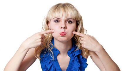 Cum să te îngraşi doar la faţă. Ce să faci pentru obraji mai plini