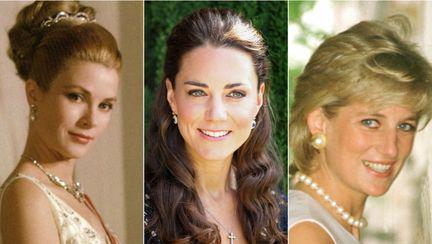 colaj Grace Kelly, Kate Middleton, Printesa Diana