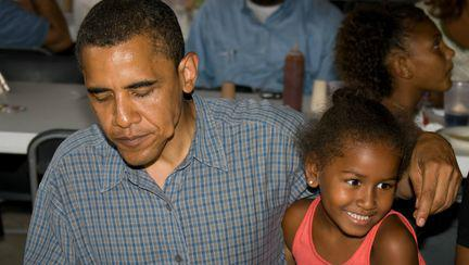 Barack Obama si Sasha Obama