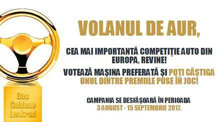 Volanul de Aur este cea mai importantă competiție de profil auto din Europa.