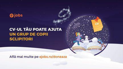 """Campania """"Povestea unui CV magic"""" continuă și iarna aceasta, oferindu-ne ocazia perfectă de a face un gest nobil de Crăciun."""