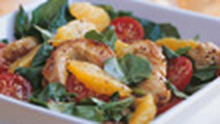 Salata picanta cu curcan, portocale si nasturel