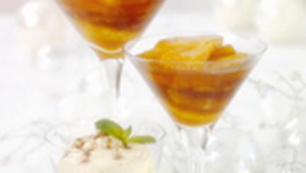 Portocale caramelizate cu frisca