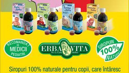 Siropurile Erbavita: 100% naturale pentru sanatatea copiilor tai (P)