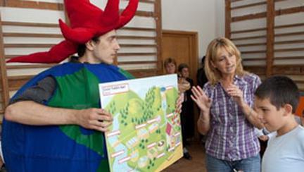 Caravana ecologica Apa Nova Bucuresti in scolile din Capitala