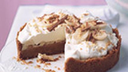 Tarta cu frisca si crema caramel