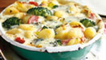 Gnocchi la cuptor cu praz si broccoli