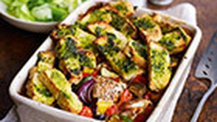 Cod la cuptor cu legume in stil provensal