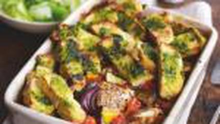 Cod la cuptor cu legume provensale si tartine