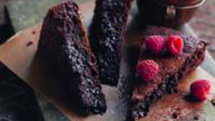 Prăjitură cu ciocolată şi migdale