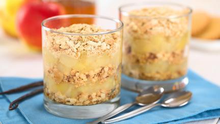 Prăjitură cu mere, fără coacere