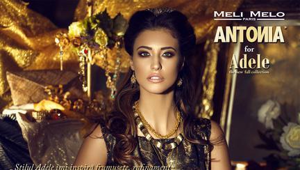 Antonia în rolul Adele, în noua colecție Meli Melo