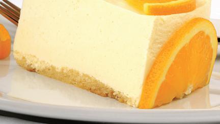 Prăjitură cremoasă cu portocale