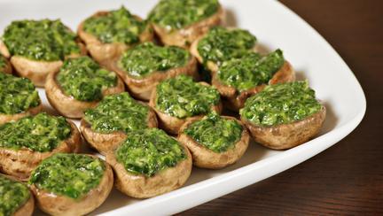 Rețetă de post: Ciuperci umplute cu spanac