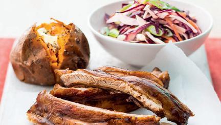 coaste de porc in stil asiatic cu salata de varza