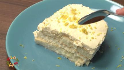 Tort brazilian cu spuma de lamaie (Pave de limao)