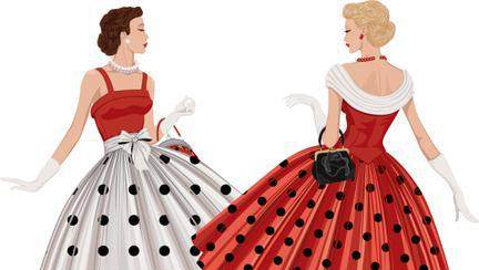 rochie în stilul anilor 50