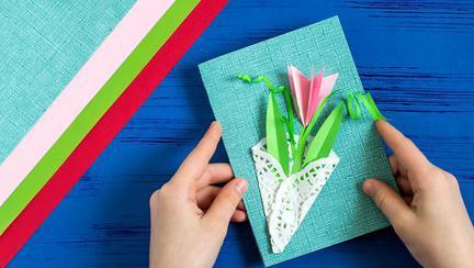 Cel mai original cadou de Florii, o felicitare făcută de mâna ta