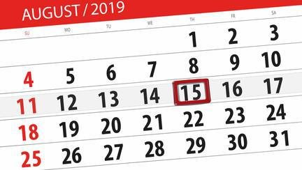 Zile libere august 2019