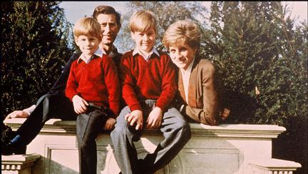 Prințul Charles, Prințesa Diana, Prințul Harry și Prințul William