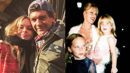 Antonio Banderas, Stella Banderas, Melanie Griffith, Dakota Johnson