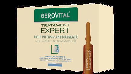 (P) Scapă de mătreață cu fiolele intensiv antimătreață Gerovital Tratament Expert