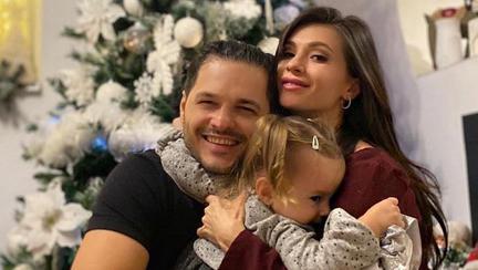 Liviu Vârciu, Anda Călin și fiica lor Anastasia