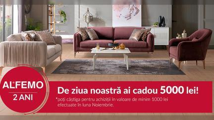 (P) 2 ani de Alfemo în România! Sărbătorim împreună aniversarea cu numeroase concursuri și promoții la mobilă de calitate!