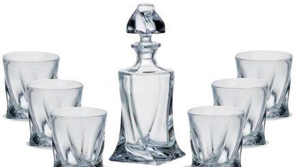 (P) Ce alegi dintre pahare de cristal și pahare de sticlă?